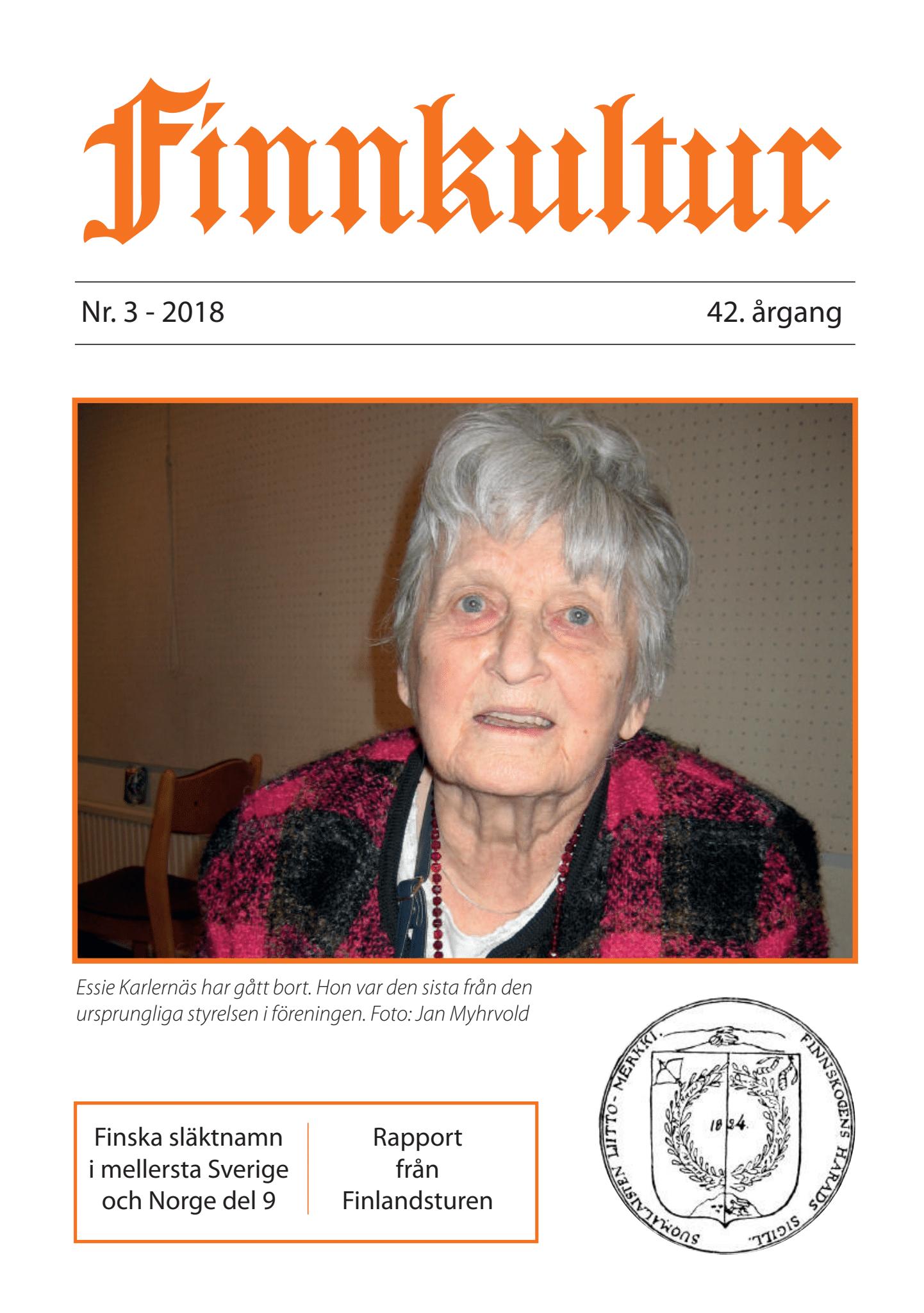 2018 Finnkultur nr. 3